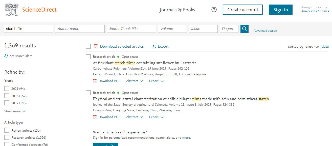 cara mendownload jurnal di science direct